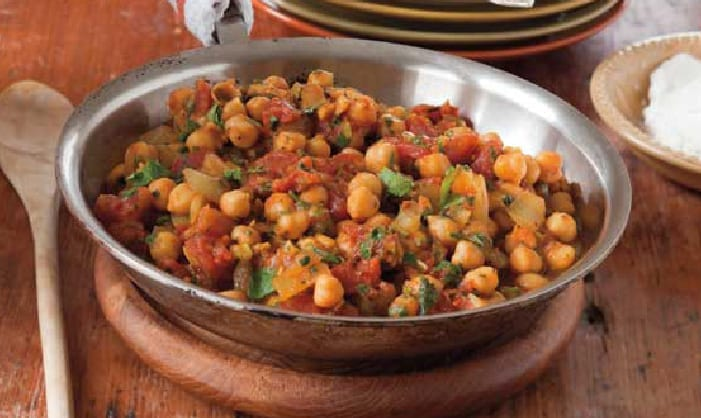 Garbanzo Beans and Tomato Curry
