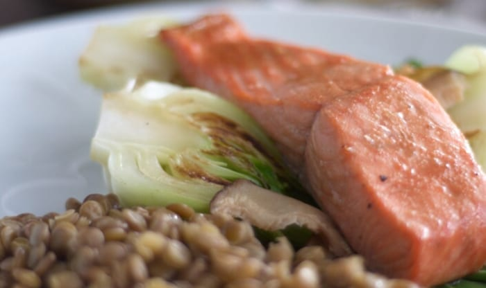 Pan-Asian Salmon with Caramelized Bok Choy