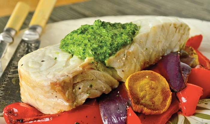 Rainbow Pesto Fish
