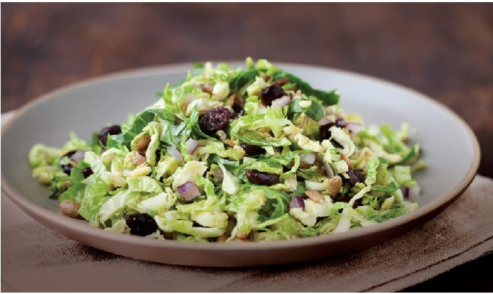 Tangy and Sweet Brussels Sprouts Slaw