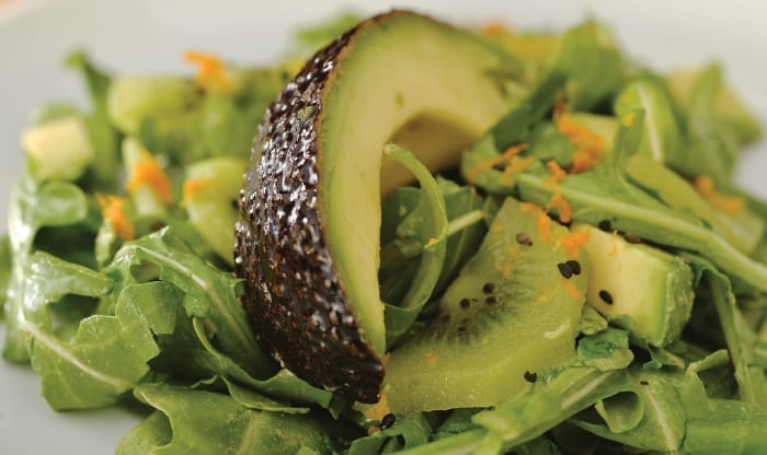 Triple Green Salad: Arugula, Avocado and Kiwi