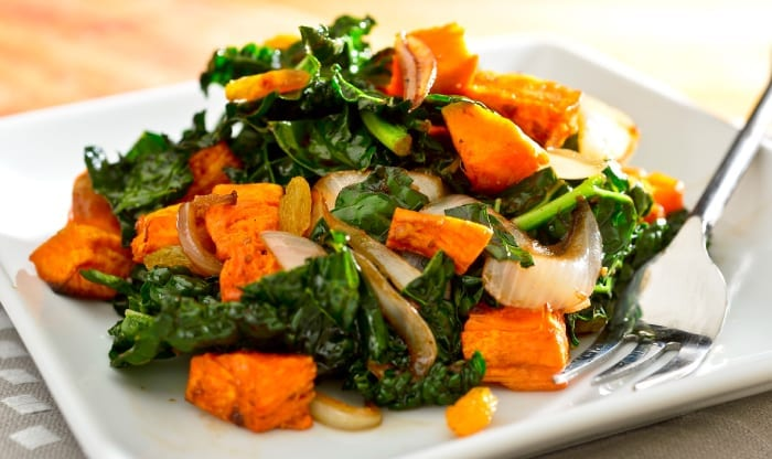 Wilted Kale and Sweet Potato Salad